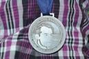 El pequeño Moshe recibió la medalla Raoul Wallenberg.