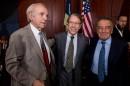 Baruj Tenembaum, Irwin Cotler y Eduardo Eurnekian.
