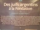 Panel acerca de los judíos argentinos en la exposición de Fundación Rothschild sobre el Holocausto