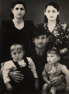 1950, Petros Chernamoryan, On right side Sofya Chernamoryan (Barim), from left Qnarik Chernamoryan (Petros' brothers wife), and his son Arshak (from right) and Hamayak(brothers' son)