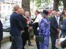 El Rev. Persson junto con el Rabino Rosenfeld. Lord Alcalde en primer plano.
