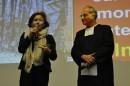 Ruth Dureghello y Padre Cacciotti
