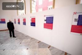 La exhibición en Zadar.