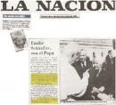 1995 - Emilie Schindler con el Papa